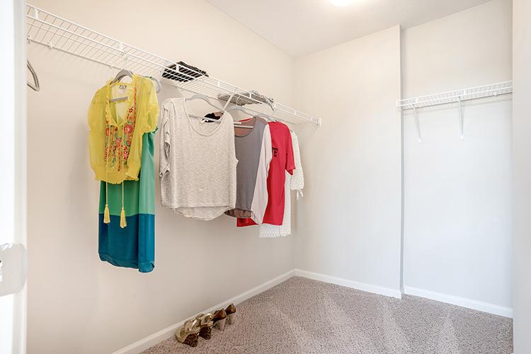 Polaris Place Apartments Unit Closet