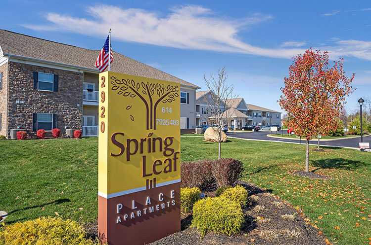 Spring Leaf Place Apartments Entrance