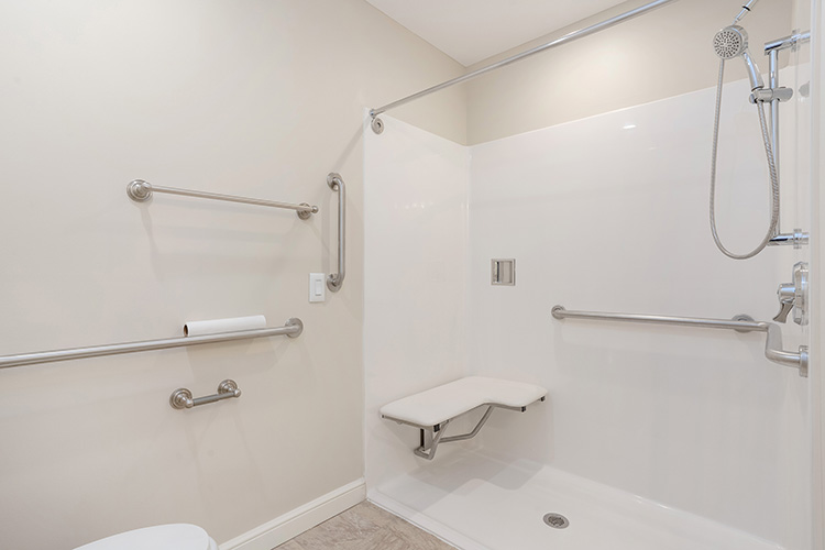 Springwood Luxury Apartments Unit Shower